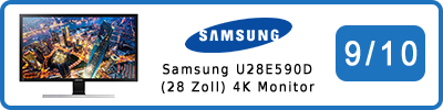 Samsung U28E590D (28 Zoll) 4K UHD-Monitor: Testbericht 2016