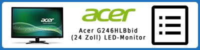 Acer G246HLBbid (24 Zoll) LED-Monitor: Infobericht 2016